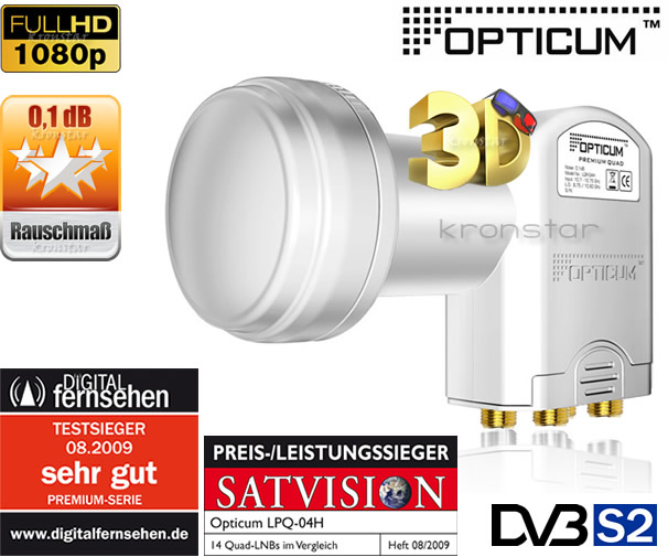 LNB QUAD Opticum Golden Line TESTSIEGER
