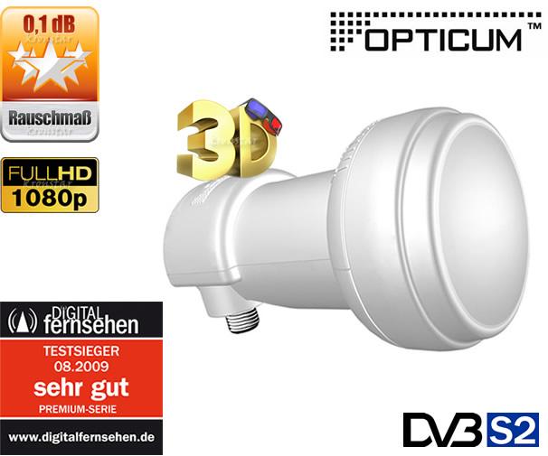 2x Single LNB 0,1dB OPTICUM Premium SAT Kopf TESTSIEGER